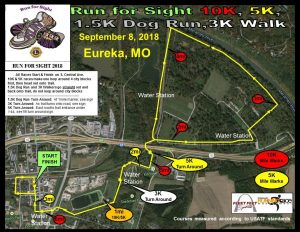Lions Run for Sight Course Map 2018